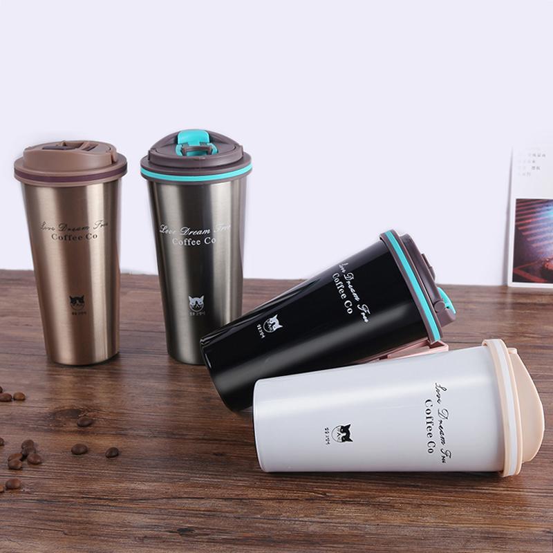Acciaio inossidabile vuoto Boccette Thermo della tazza di caffè del tè di corsa Thermol bottiglia portatile thermos d'acqua