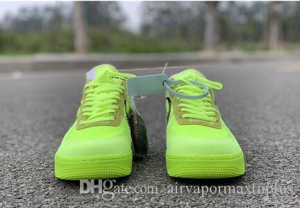 2019 hotsale Mens Forcesone Volt 2.0 off Green Zapatillas de deporte negras Warrior Sport Casual Skateboard Shoe Mujeres Forced Designer Sneakers