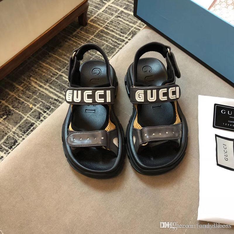 2020 sandalias inferiores popular caliente de las mujeres sandalias gruesas aumentan Boximiya sandalias de estilo nacional clan de piel de cordero de moda de moda de verano relajado