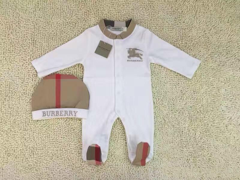 Newborn 2pcs Set Baby Romper Classic grid jumpsuits Embroidered horse toddlers Coverall/Romper kids clothing Free shipping