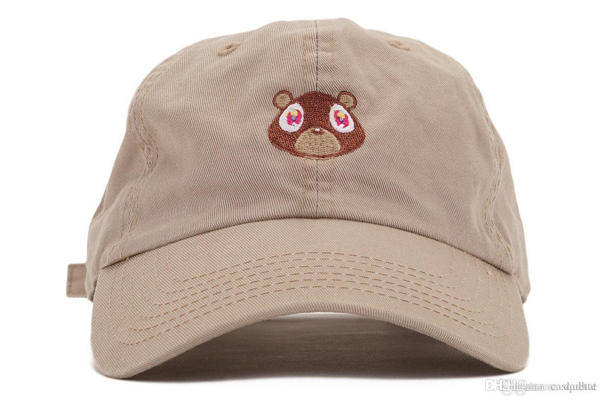 كاني ويست يي الدب أبي قبعة جميلة قبعة بيسبول الصيف للرجال النساء snapback قبعات للجنسين الحصرية الافراج الهيب هوب الساخنة نمط قبعة