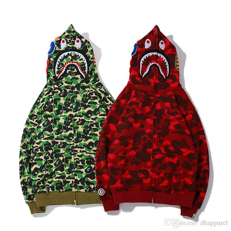 Nuovo commercio all'ingrosso Lover Camo verde rosso stampato modello animale con cappuccio giacca uomo donna casual in cotone hip-hop maglione casual