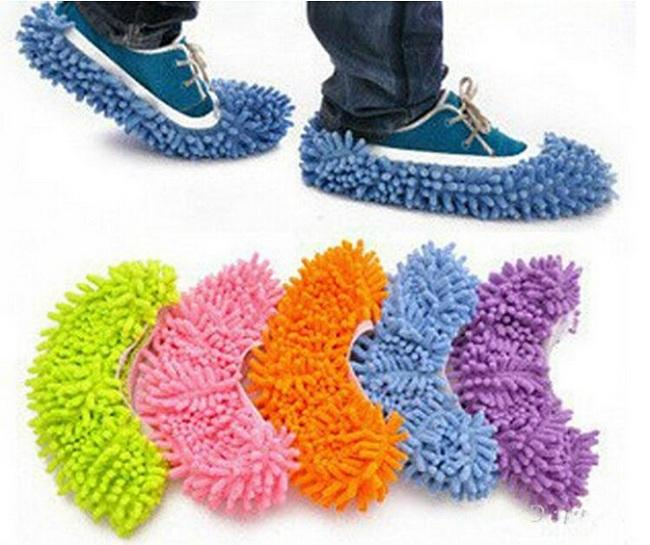 Hot Sale-Multifunction Mop Shoe Cover Dust Mop Slipper House Cleaner Lazy Floor Dusting Cleaning Slipper Housekeeper Foot Shoe
