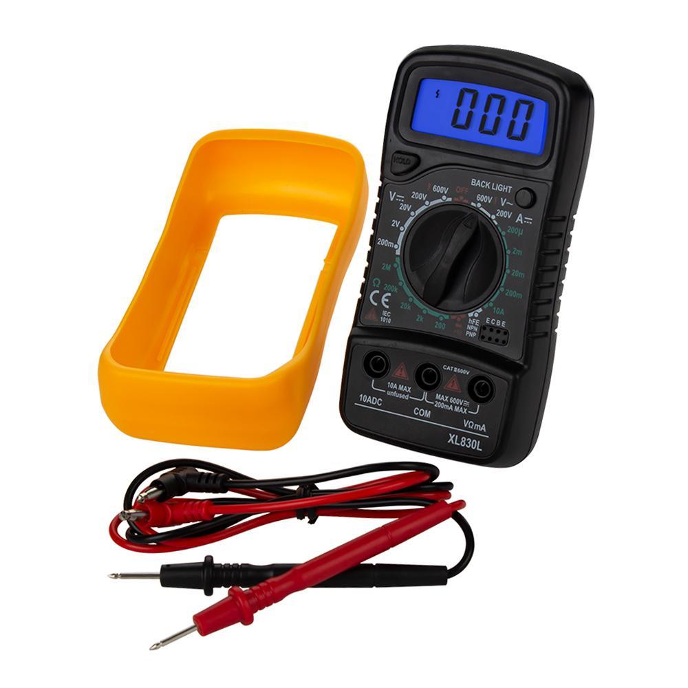 XL830L Taşınabilir Dijital Multimetre Arka AC / DC Ampermetre Voltmetre Ohm Tester El LCD Gerilim Akım Güç Ölçer Testi