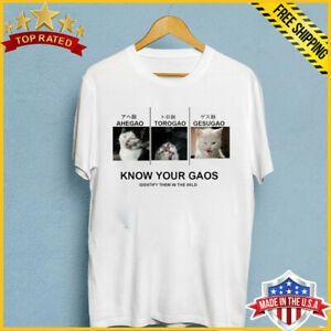Новая рубашка ахегао Знай свое лицо какая из них твоя смешная белая футболка S 6XL