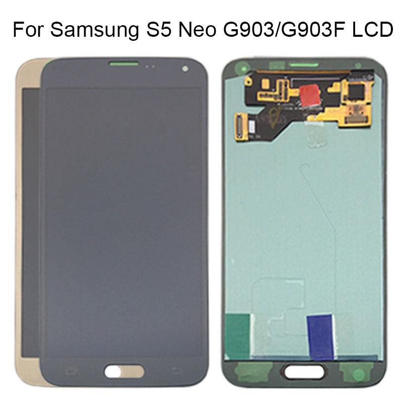 AMOLED LCD S5 Neo G903 G903F Display 100% Tested Working Touch Screen Assembly For Samsung S5 Neo LCD Display Galaxy With Tools