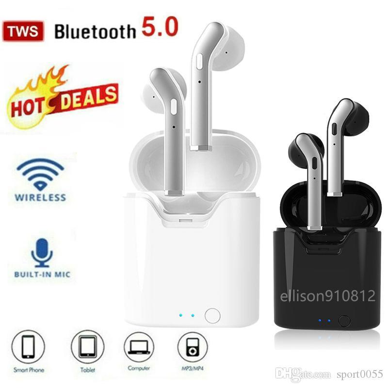 TWS Bluetooth écouteurs 5,0 Casques d'écoute écouteurs sans fil dans casque mini-écouteurs Sport Oreillette pour iphone Samsung PK i9 i12 i11 Core i7