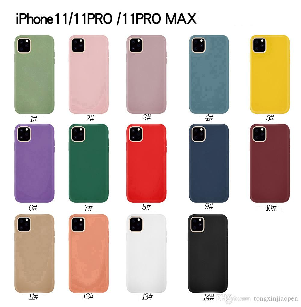 Luxury Soft Back Color Cases For IPhone 11 Pro ProMax 2019 Case Shockproof  TPU Silicone Back Cover Capa Phone Cover Customized Phone Cases From