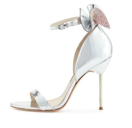 Eunice Choo 섹시한 검투사 샌들 여성 파티 신발 매듭 장식 매듭 여성 샌들 새로운 스위트 하이힐 결혼식 신발