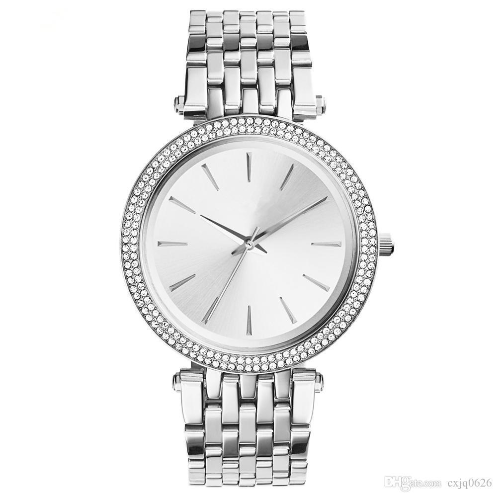 2019 vendita calda moda donna orologio da donna in acciaio inossidabile orologio nuovissimo orologio da polso femminile orologio con diamante orologio da polso di lusso di alta qualità