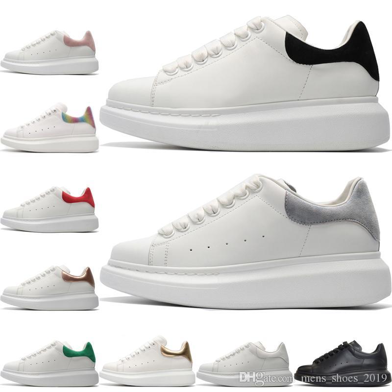 Kadın Erkek Rahat Ayakkabılar Üçlü siyah beyaz Elbise Ayakkabı Erkekler için Platformu Desinger Ayakkabı Grils Deri Kırmızı Yeşil gri Dantel Up Trainer Sneakers