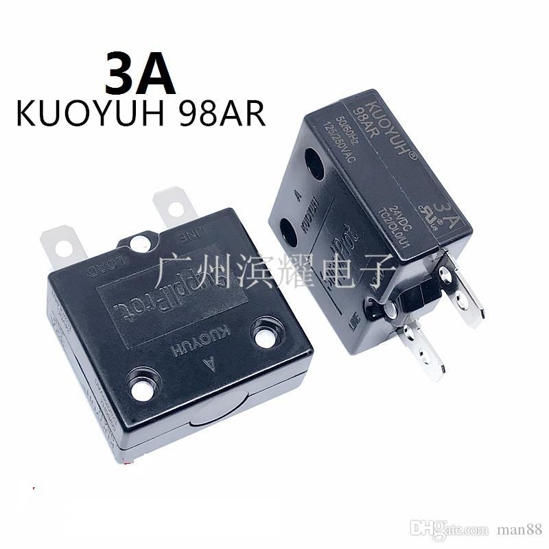Taiwan KUOYUH Sobrecorriente Protector Sobrecarga Interruptor 3A 98AR Serie Restablecimiento automático
