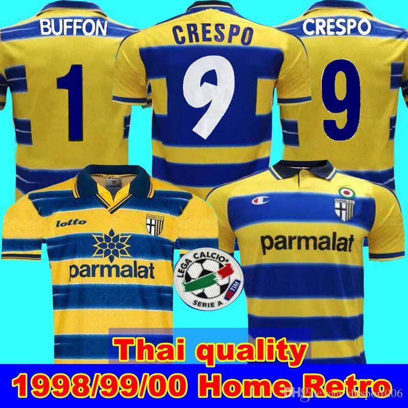 1998 99 00 بارما ريترو جيرسي لكرة القدم 1999 00 بارما كريسبو تورام باجيو PARMA CALCIO ريترو الرئيسية لكرة القدم جيرسي ريترو الرئيسية 99 00 بطل