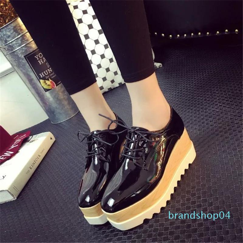 2018 Woman Gold Shoes Platform Shoes