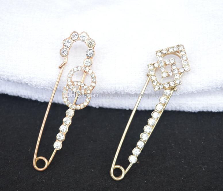 Fashion new ladies big pin point drill brooch High-grade gold brooch point drill collar flower 100 matching fast delivery