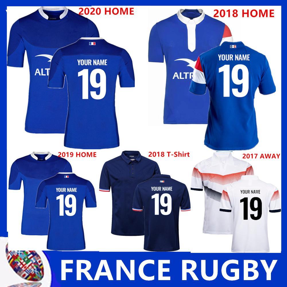 Novo estilo 2018 2019 França Super Rugby Jerseys 18 19 France Camisetas Rugby Maillot de Foot Francês BOLN Rugby tamanho da camisa S-3XL