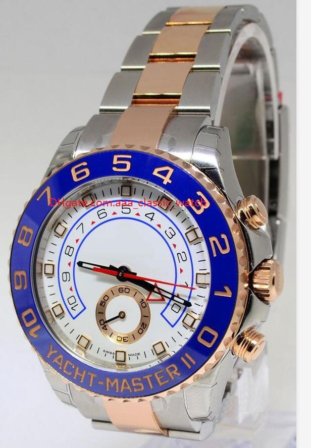 Завод поставщик топ высокое качество Сапфир 116688 синий керамический безель розово золотой автоматический механический 2 тон мужские часы Часы
