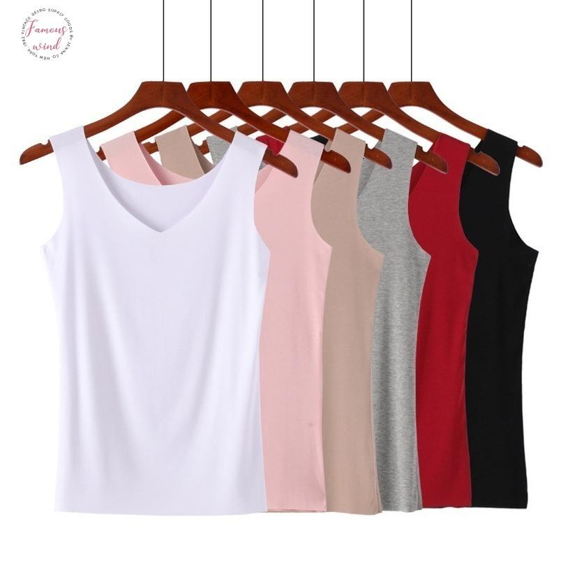 Summer Fitness Tank Top V Neck Slim T Shirt Women Slim Female Summer Pure Color T Shirt Tops Fashion Woman Clothes