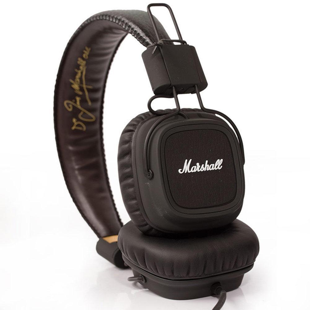 Marshall Major auriculares con el MIC Deep Bass DJ Auricular Hi-Fi de alta fidelidad auricular profesional de DJ del auricular del monitor