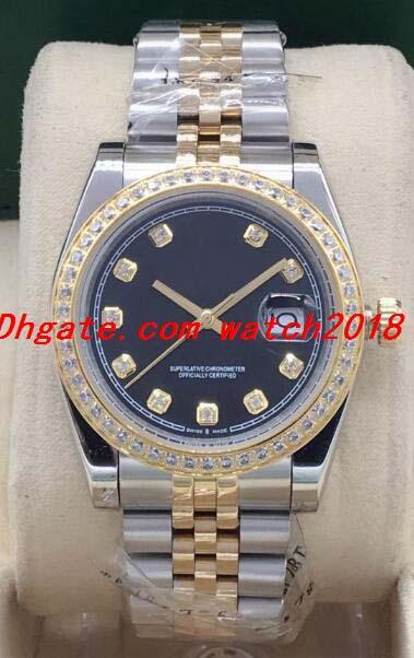 Montre de Luxe 5 Style de Mens Two Tone Champagne Gold Diamond Dial / lunette 116233 116243 super Jubilee Bracelet 36mm Montre Automatique Mode Hommes