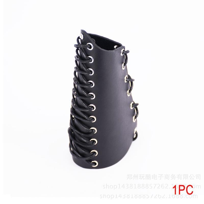 Herramienta de protección Weaving simple Retro accesorios al aire libre de Cosplay de tiro con arco brazales