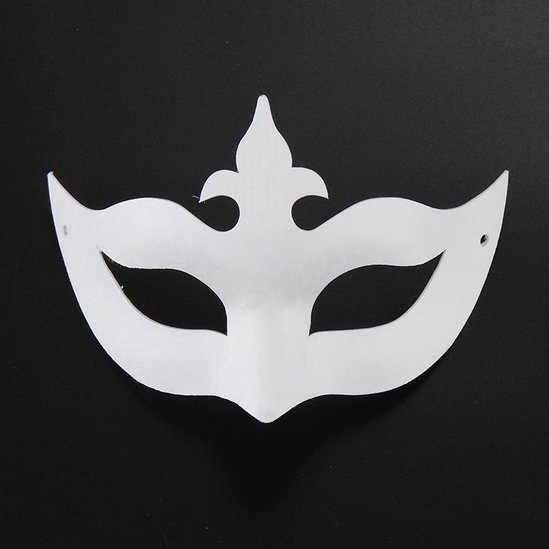 DIY Venetian Mask White Paper Hand Painted Face Masks for Men Women Kids Carnival Gift Crown Princess Eyewear
