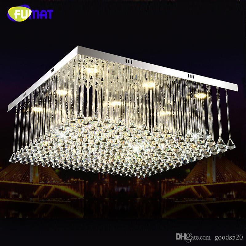 Fumat led ساحة مطعم الثريا الإضاءة الإبداعية الحديثة الكريستال شريط بسيط زينت الثريا بريقا الإضاءة المنزلية