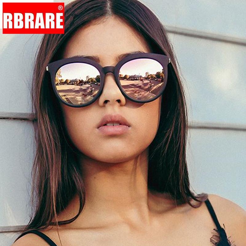 RBRARE New Square Lunettes de soleil Femmes Brand Design Revêtement Miroir Lady Sunglass Femme Lunettes de soleil pour les femmes Lunettes