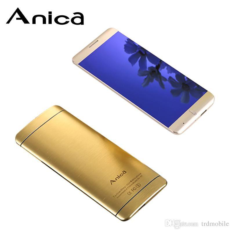 Anica A7 Super-Mini-Phone Ultradünnes Karte Luxus Bluetooth Dail 1,63 Stoß- Handy Rand Staubdichtes telefono movil Unlock-Low-Cost Spanien