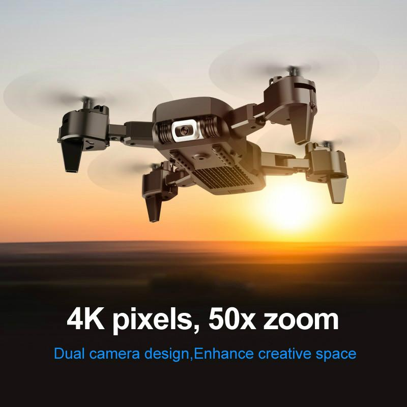 Professional Drone 4K HD Dual Camera GPS Foldable RC Aircraft WIFI FPV 20Mins Quadcopter kids Toys Outdoor KK6 New Helicopt 03