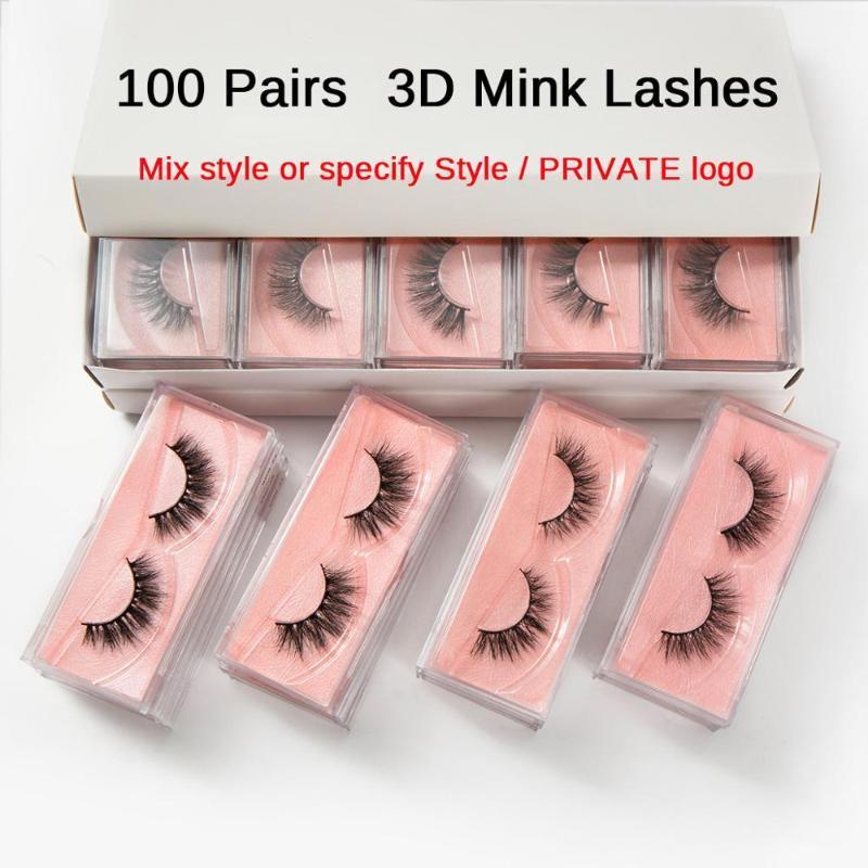 20/30 / / 100pcs 50 Kirpikleri Toptan Vizon Kirpikleri Toptan Kirpikler Toplu olarak Mink Lashes Doğal Yanlış Toplu Makyaj