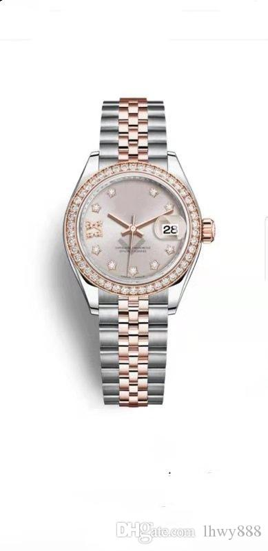 Top luxury ladies watchesdesigner watches with diamond stainless steel automatic mechanical watches, calendar selling free postage watches