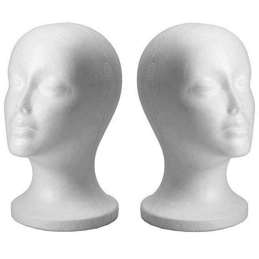 Yeni Pratik Beyaz Köpük Kadın Manken Başkanı Saç Peruk Gözlük Kapak Ekran Tutucu Standı Modeli Manken Şapka Steun Styrofoam