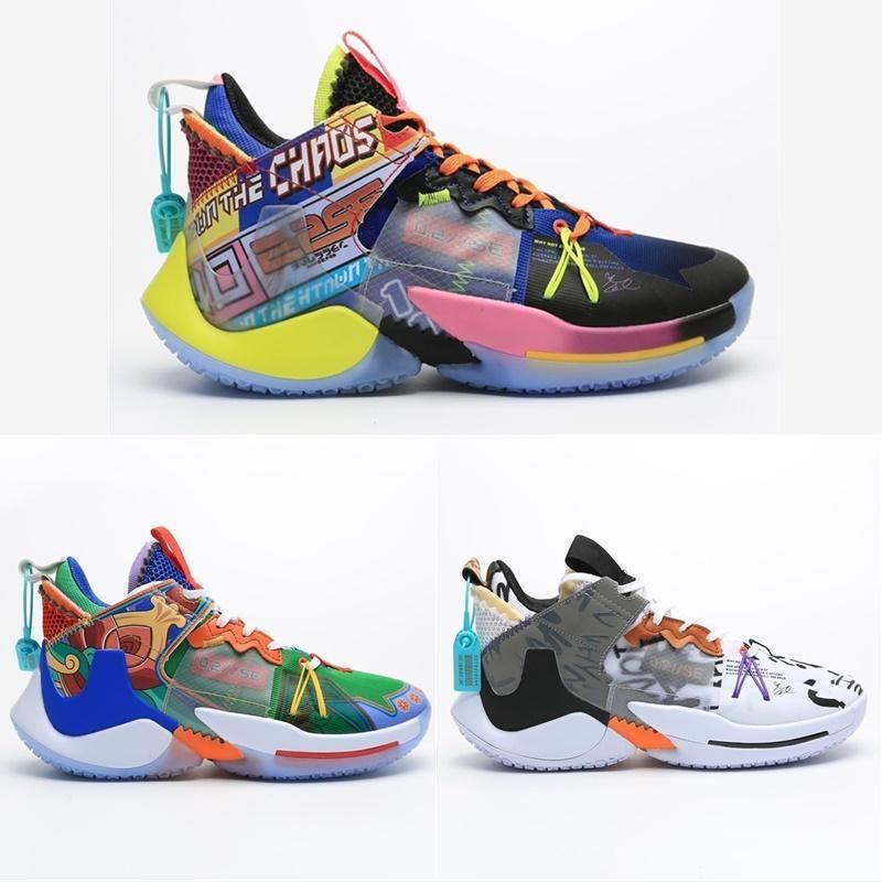 2020 Mens Russell Westbrook ¿Por qué no Zero.2 II Elite SE Baloncesto deporte de los zapatos de zapatos de diseño Zero PF Chicos zapatillas de deporte 40-46