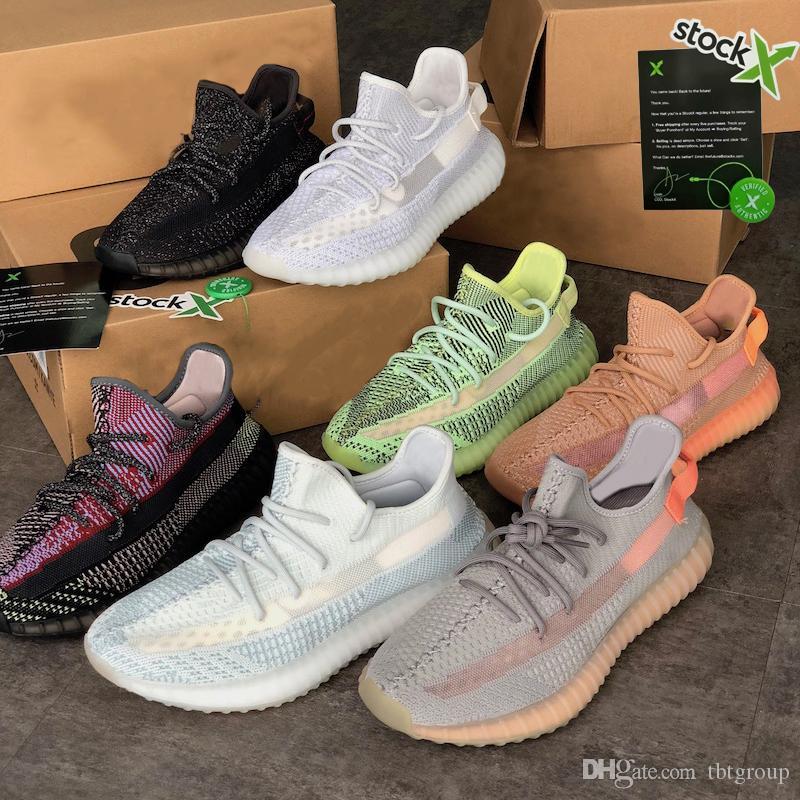 Yecheil Reflective Kanye West Luxo Shoes Green Men Terra Mulheres Designers calçados casuais estática Black White estática completa Reflective Sneaker