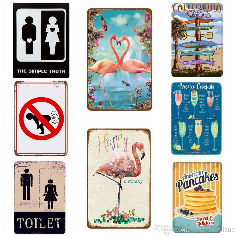 Warning Vintage Metal Tin Signs For Wall Decor Rock Music Iron Paintings 20*30cm Signs Tin Plate Pub Bar Garage Retro Home Decoration