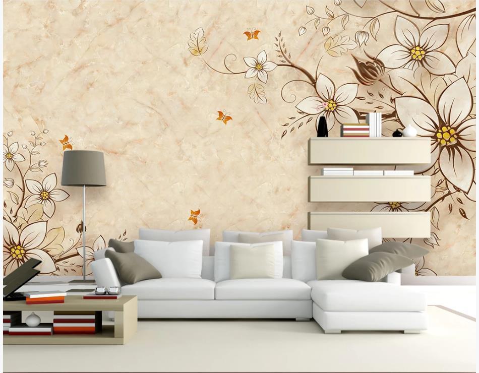 carta da parati per le pareti 3 d per vivere in marmo europea camera sfondi pittura carta da parati della parete del fiore