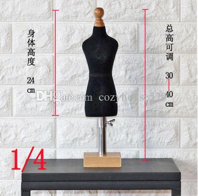 fashion mini black female woman body doll mannequin sewing for female clothes,busto dresses form stand1:4 scale Jersey bust can pin 1pc C764