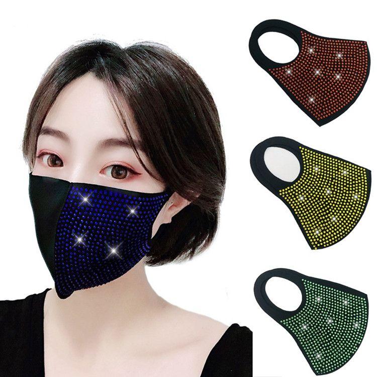 donne nuove colorate luccicanti maschera di protezione antipolvere maschere marea mascherina del partito sole Designer 4 colori Maschera T2I5932