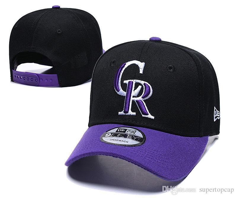 2020 ajustável Hat Moda Marca Hip do CR Rockies Fan dos homens novos Hop plana Brim Baseball Snapback Caps Homens Mulheres Bonnet Rua óssea