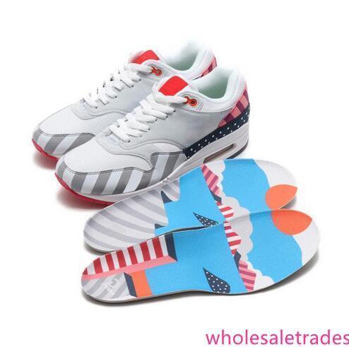 Nuevo estilo de los Países Bajos diseñador Piet Parra 1 Blanco multi de los zapatos corrientes de los hombres del arco iris Parque Entrenadores tamaño de mujeres zapatillas de deporte 36-45 Con