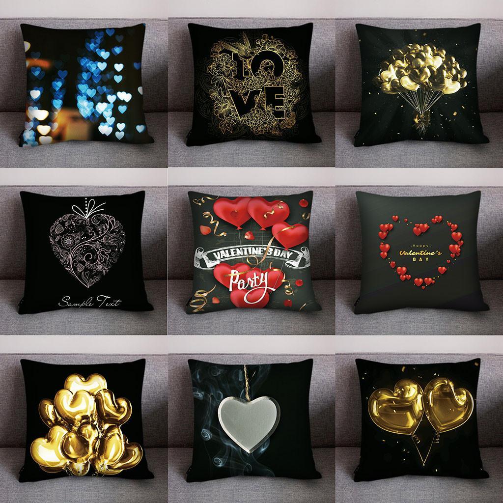 Joyeux Noël Décoratif Throw Home Imprimer Taie d'oreiller Polyester Canapé Voiture Housse De Coussin Décor À La Maison 8.3