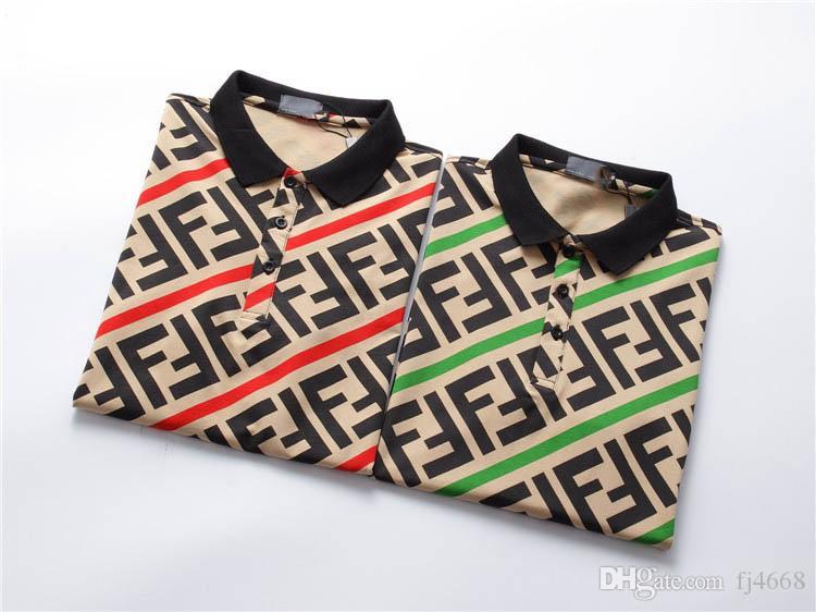 2019 verano nueva camisa de algodón a rayas para hombre del polo de los hombres usan ropa de la camisa de cuello modas de los hombres de la calle tapas Elegante informal