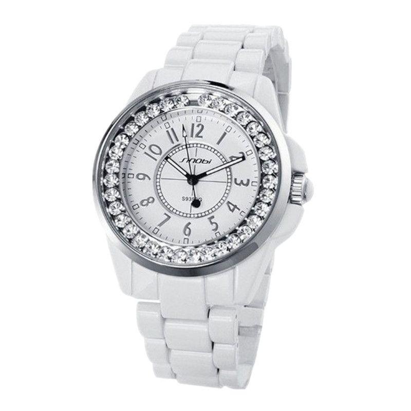 Sinobi Women Wrist Watch Luxury Rhinestone Women's Watches Top Brand Fashion Ladies Watch Women Watches Stainless Steel Clock Y19062703