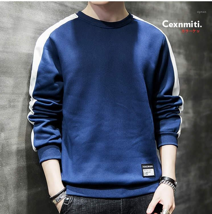 Manicotto del Mens Felpe righe Maschi Abbigliamento Panelled Mens Designer hoodies casuali o collo Abbigliamento Pullover lungo
