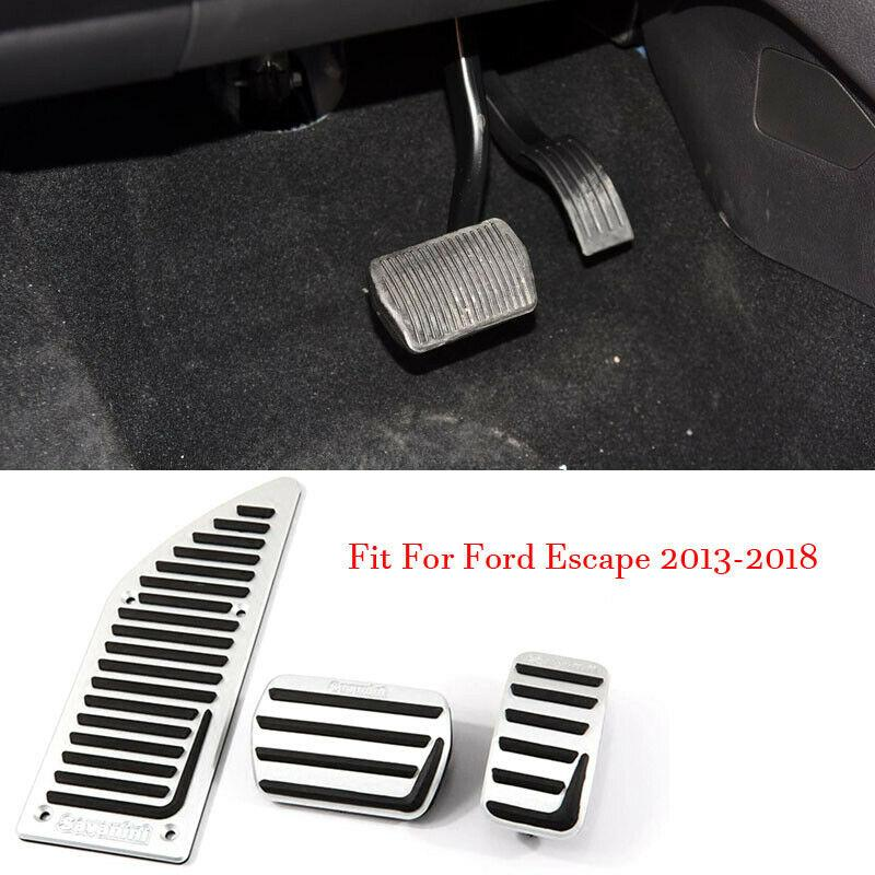 Car Alloy Accelerator Gas Brake Footrest Pedal Plate Pad Cover Fit For Ford Escape 2013-2018