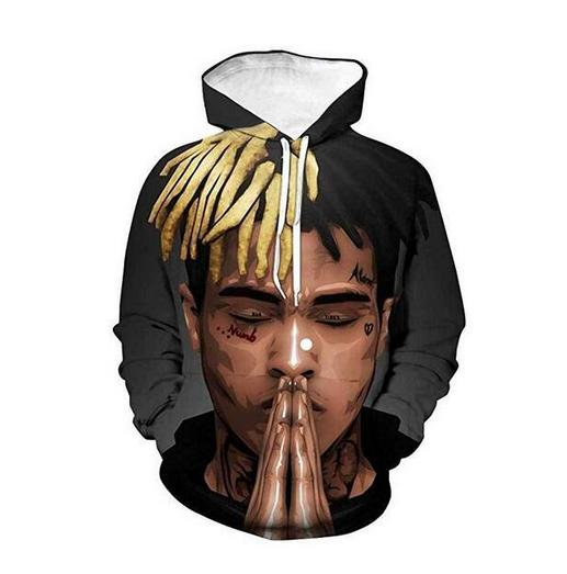New Fashion Sweatshirt Men / Women 3d Hoodies Print Xxxtentacion Unisex Slim Stylish Hooded Hoodies LMS046