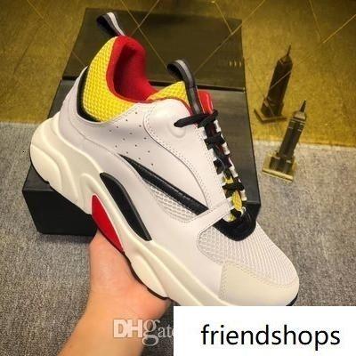 Femmes Hommes Designer Sneaker Luxe D Cuir confortable Casual B22 Entraîneur marche Tricot Meshu Up Chaussures mh189601