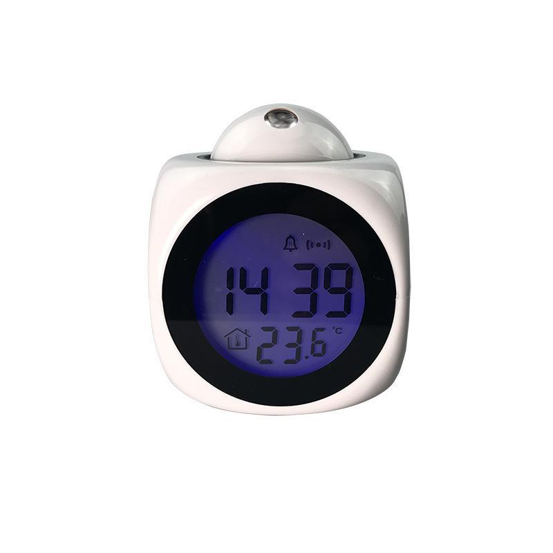 Multi-função de relógio de projeção de alarme, projeção LED