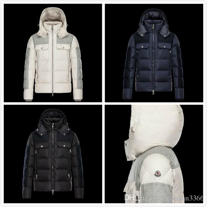 Homens atacado Casual Jacket para baixo MAYA Baixo Coats Mens Outdo0or anorak jaqueta de inverno casaco outwear vestuário exterior para baixo Gooes jaqueta M123 Inverno